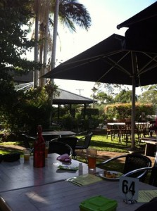 Montville Cafe beer garden area