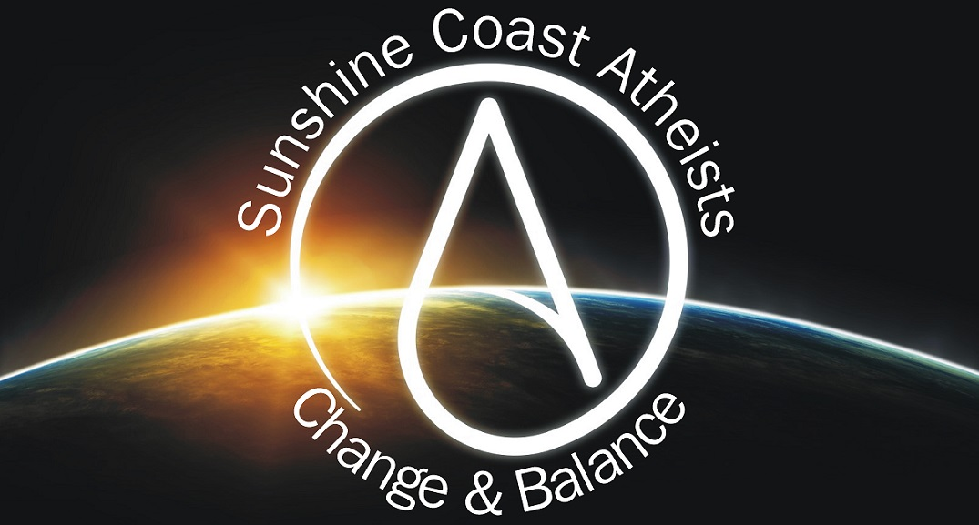 Sunshine Coast Atheists  -  In Us We Trust Logo
